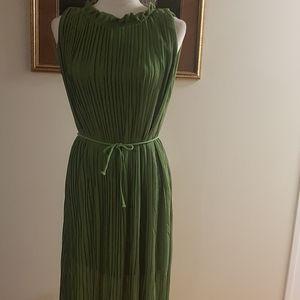 Pleated crepe Maxi  dress.